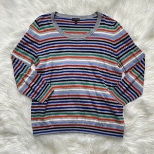 Talbots Sweater Rainbow Colorful Womens St…